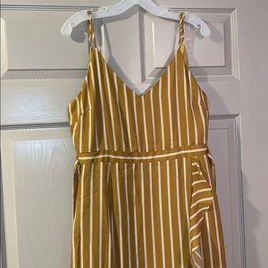 Striped golden yellow dress (m)